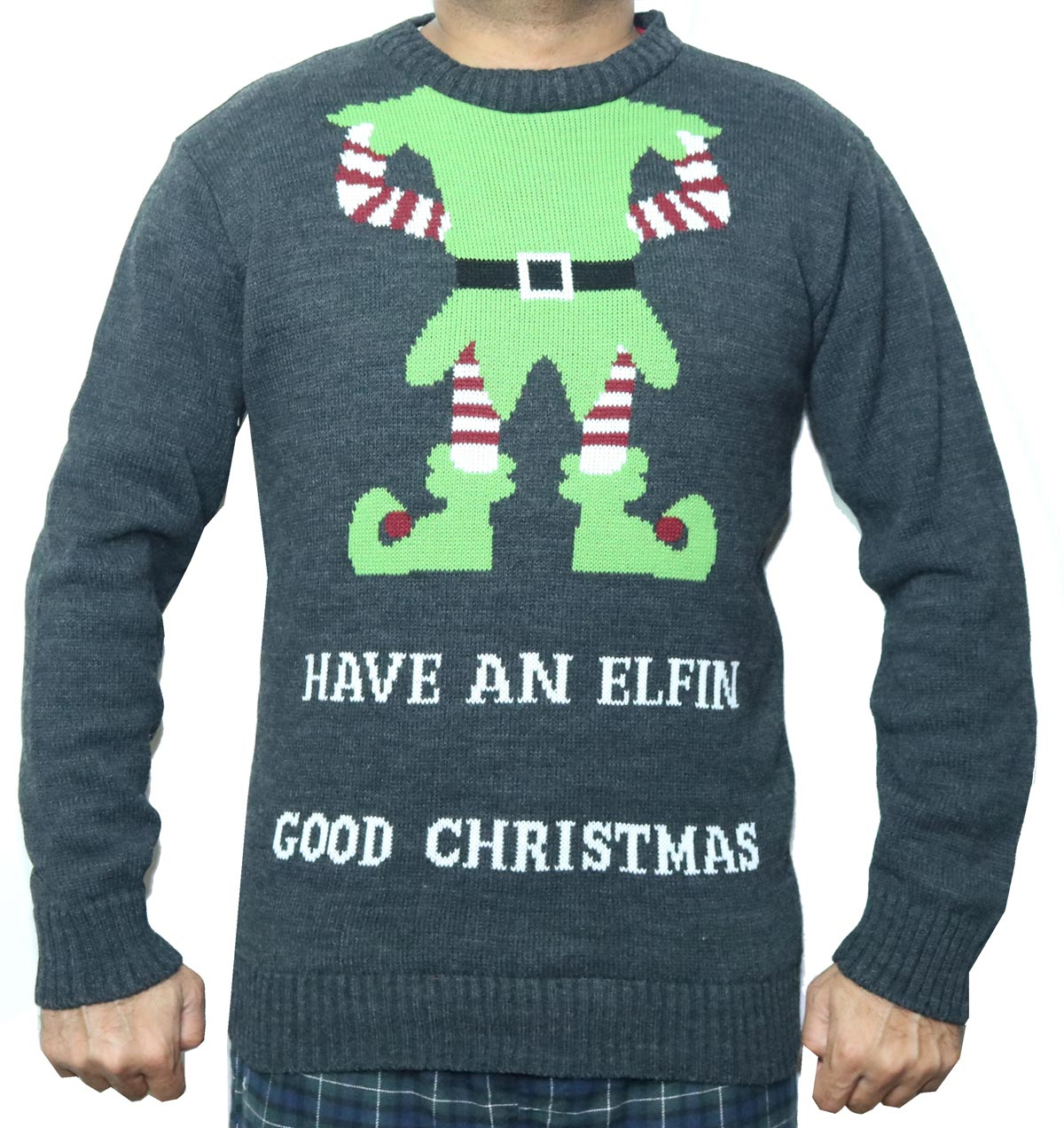 Have An Elf Body Good Christmas Sweater - Ugly Christmas Sweaters ...