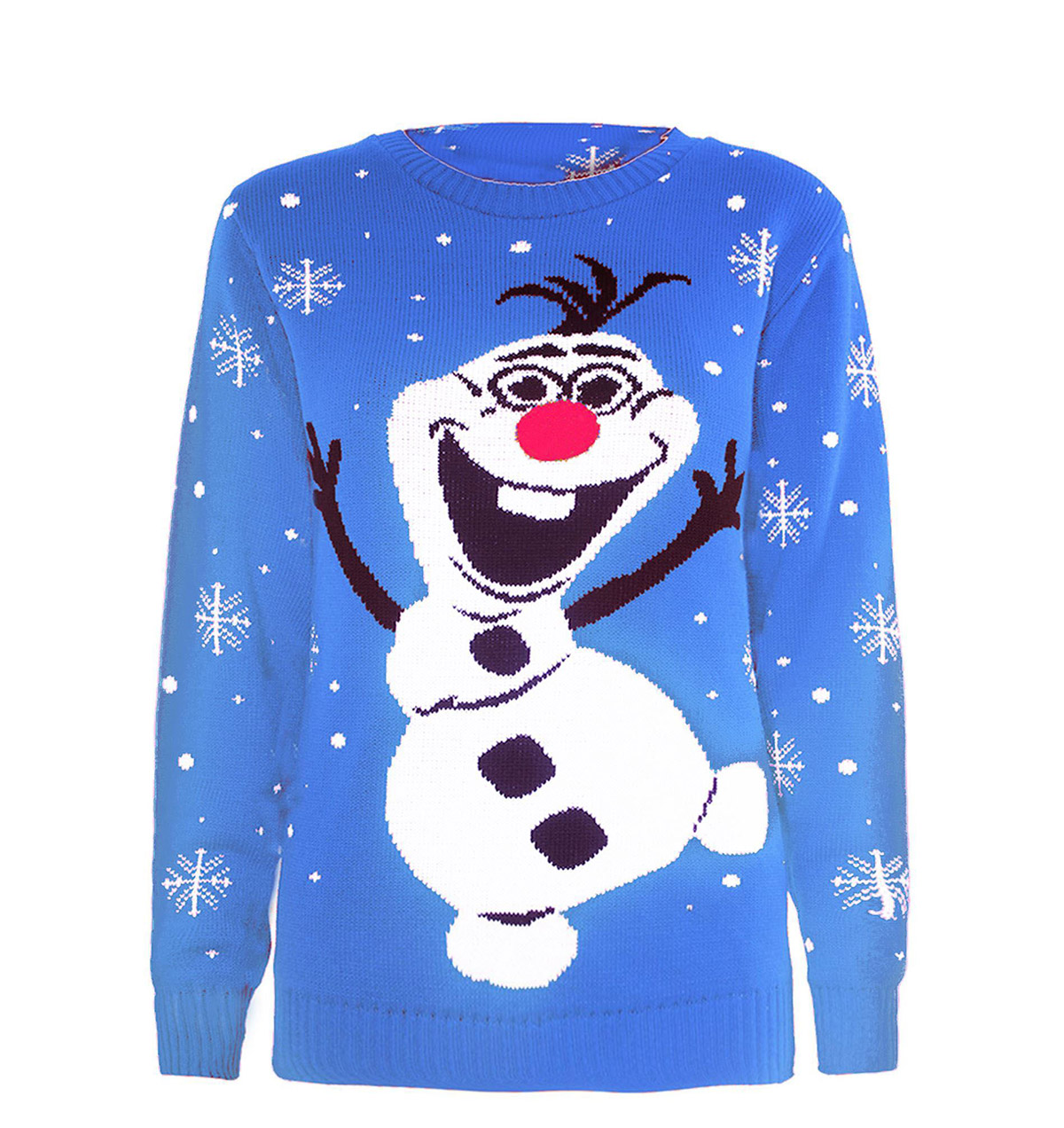 Tacky Olaf Christmas Sweater Knitted In Blue - Ugly Christmas ...