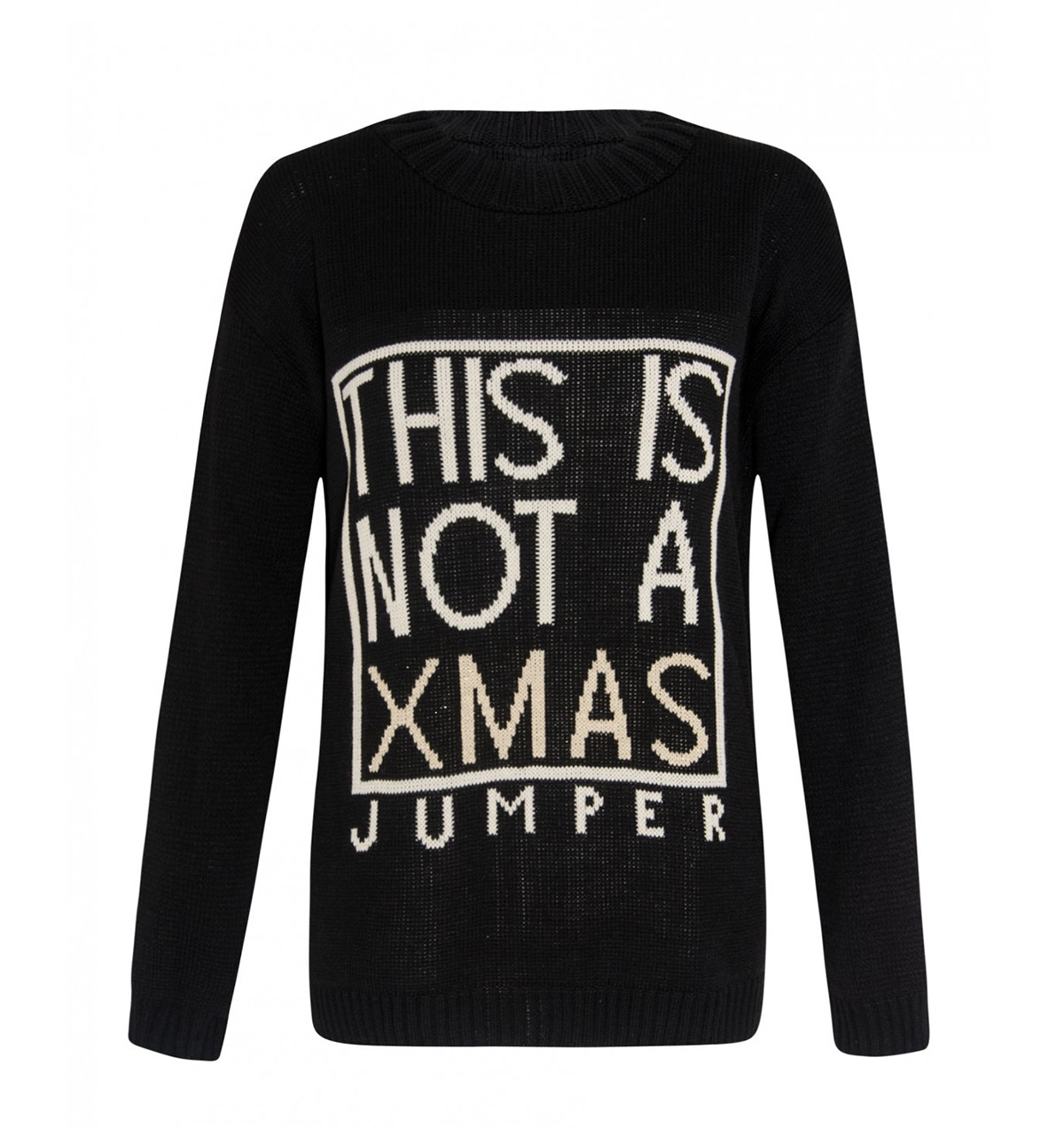 this is not xmas girls sweater in black - Black Christmas Sweater