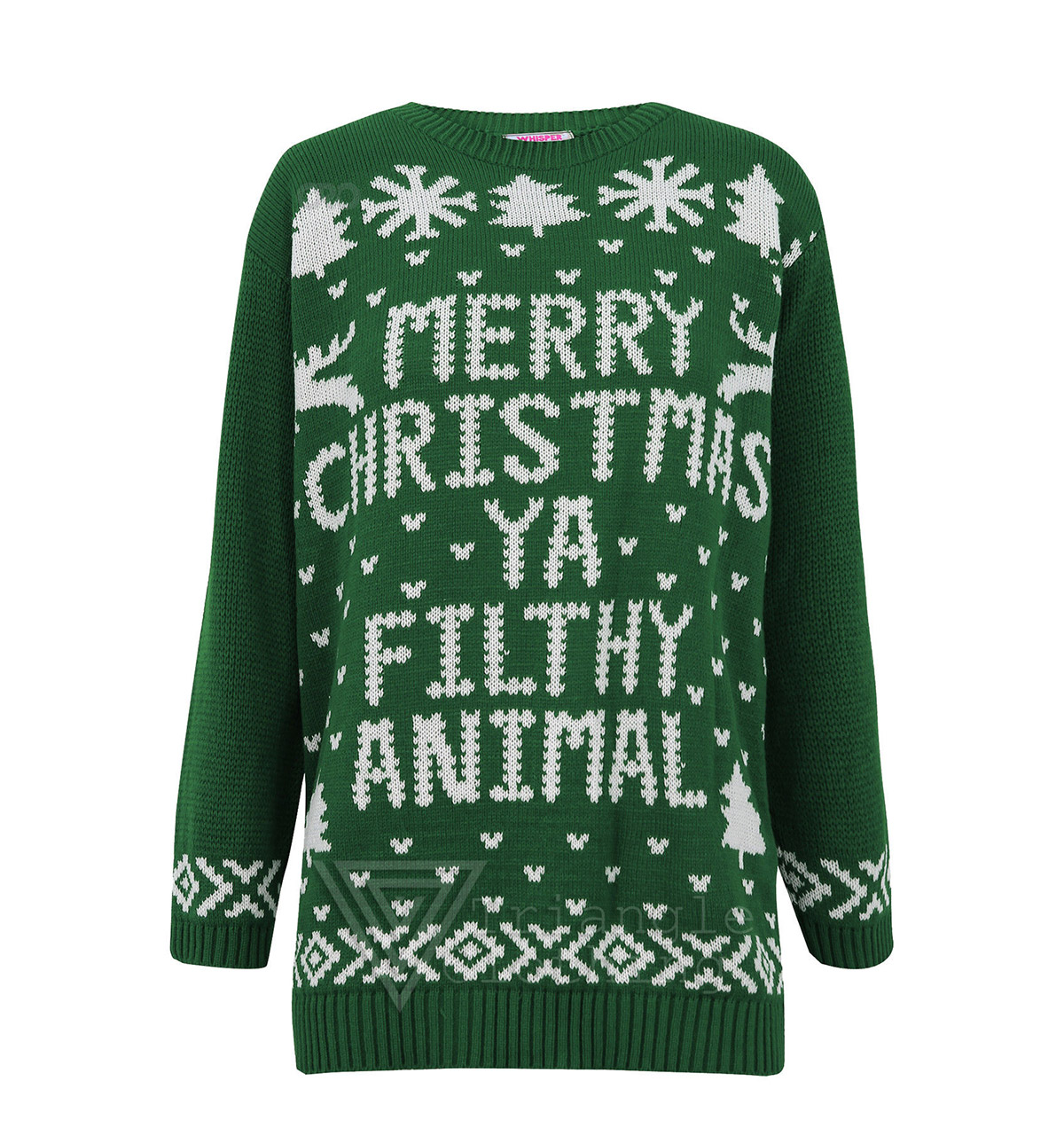 Merry Christmas Ya Filthy Animal Sweater Green Ugly Christmas