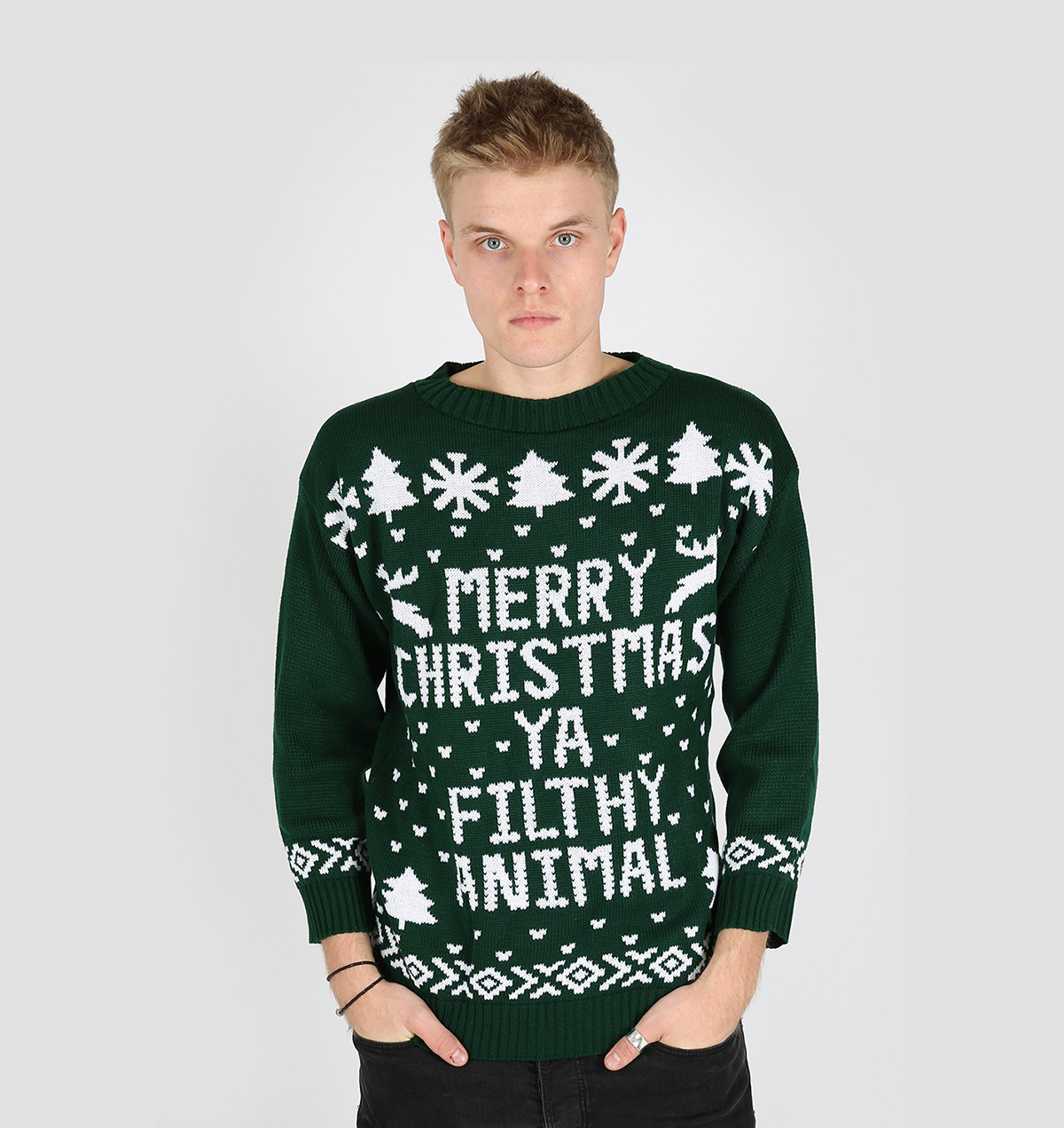 Merry christmas ya filthy animal sweaters