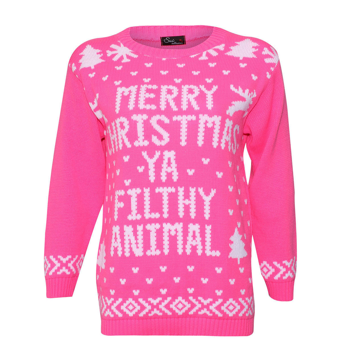 Pink Christmas Sweater - Cashmere Sweater England