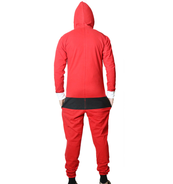 Christmas Santa Suit Hooded Onesie Jumpsuit - Ugly Christmas ... 03bc12868
